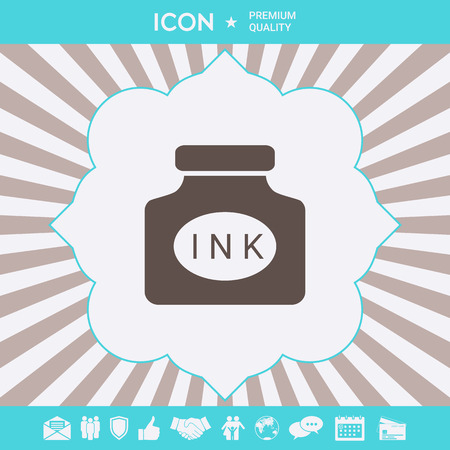 Ink bottle icon . Signs and symbols for your designt