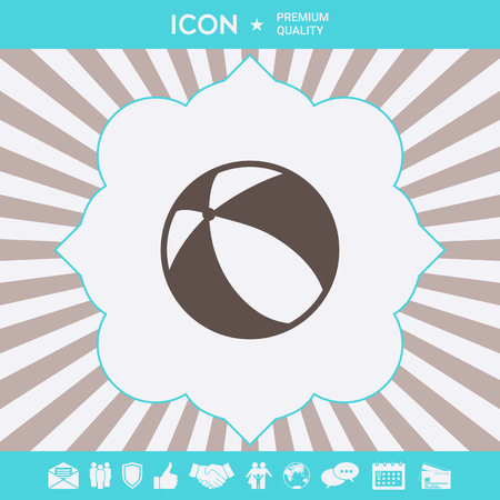 Children toy, bouncy ball - icon. Element for your design Ilustracja