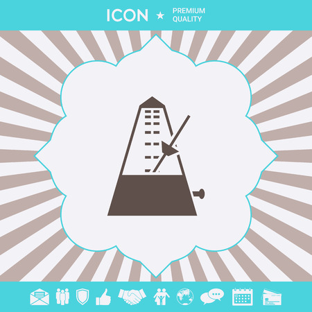Metronome symbol icon. Graphic elements for your design