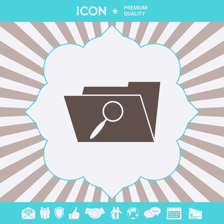 Search folder icon . Signs and symbols for your designt Illustration