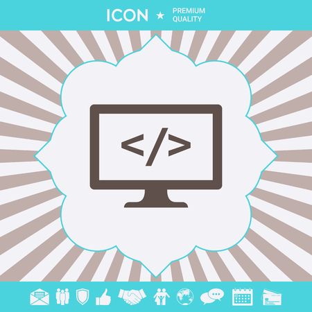 Coding symbol icon. Graphic elements for your design