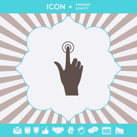 Hand click icon . Signs and symbols for your designt