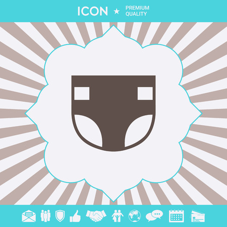 Nappy symbol icon . Signs and symbols for your designt Illustration