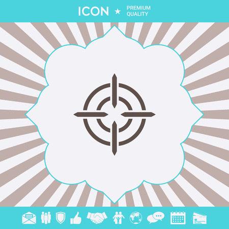 Aim icon symbol. Element for your design.