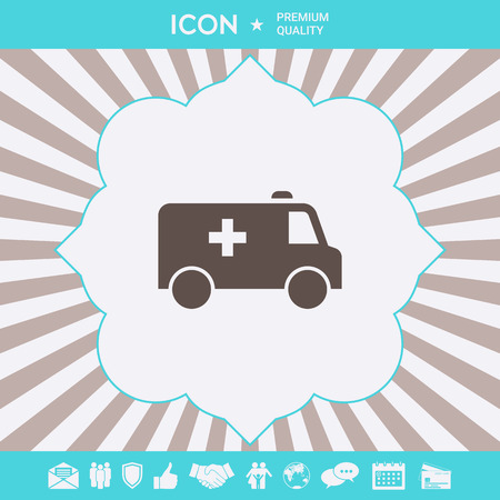 Ambulance symbol icon. Element for your design