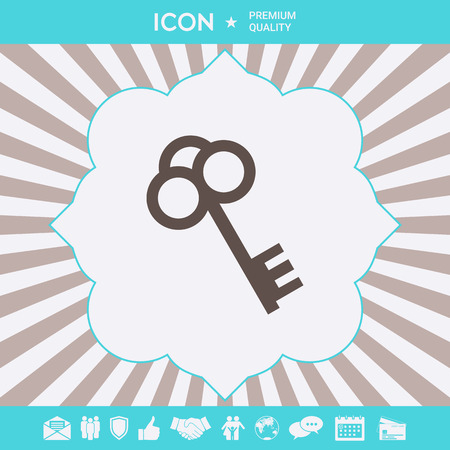 Key symbol icon . Signs and symbols for your designt