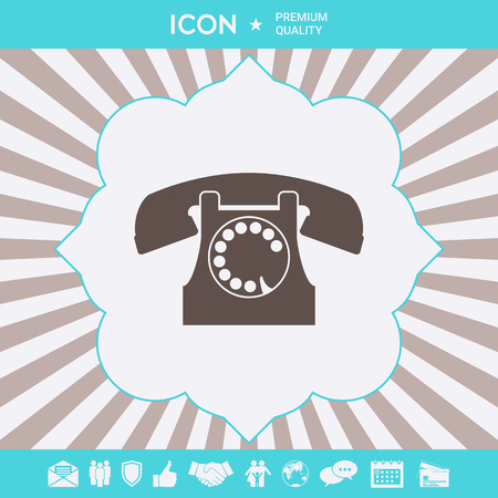 Retro telephone symbol . Signs and symbols for your designt Illustration
