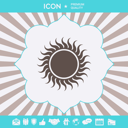 Sun symbol icon . Signs and symbols for your designt