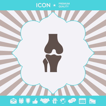 Knee joint icon . Signs and symbols for your designt