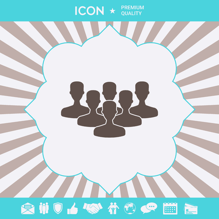 Team of Professionals, icon . Signs and symbols for your designt