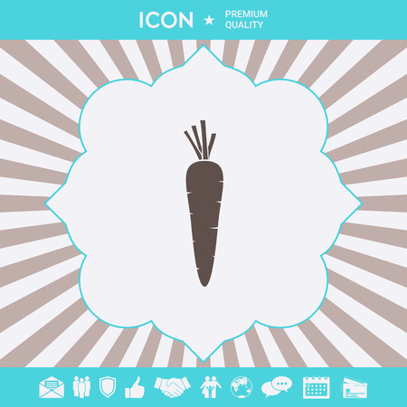 Carrot symbol icon. Element for your design