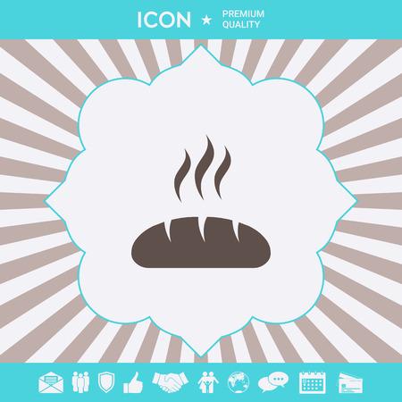 Bread symbol icon. Element for your design