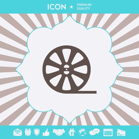 Reel film icon . Signs and symbols for your designt Ilustração