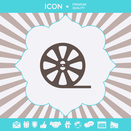 Reel film icon . Signs and symbols for your designt Illustration