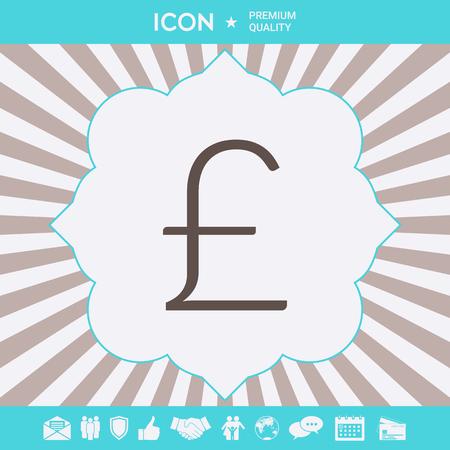 Sterling symbol icon . Signs and symbols for your designt Ilustração
