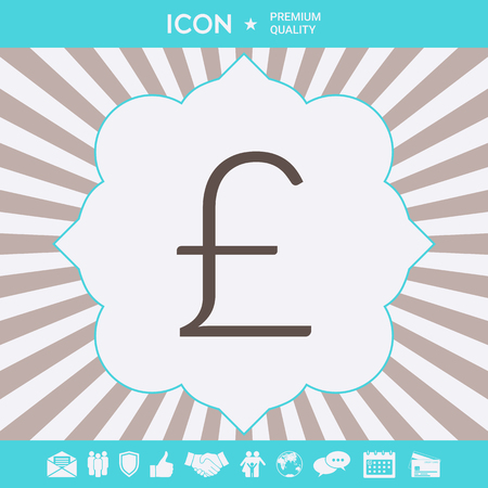 Sterling symbol icon . Signs and symbols for your designt Illustration