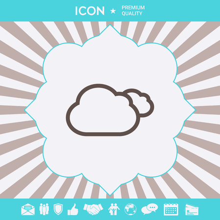 Clouds line icon. Element for your design