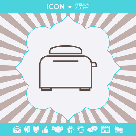 Toaster Oven linear icon . Signs and symbols for your designt