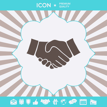 Handshake symbol icon . Signs and symbols for your designt