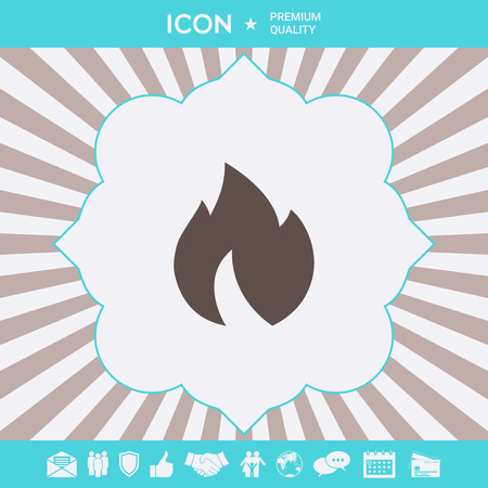 Fire, flame icon . Signs and symbols for your designt