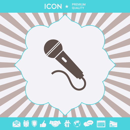 Microphone symbol icon . Signs and symbols for your designt