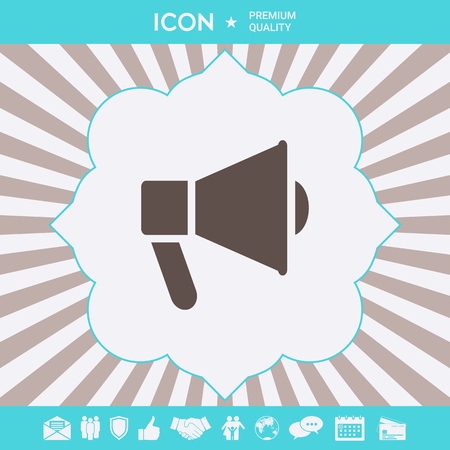 Speaker, bullhorn icon . Signs and symbols for your designt