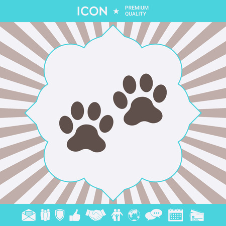Paws symbol icon . Signs and symbols for your designt
