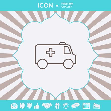 Ambulance line icon. Element for your design Ilustração