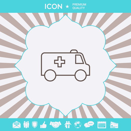 Ambulance line icon. Element for your design Illustration
