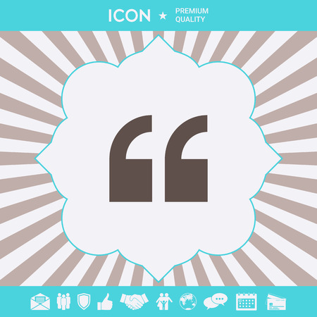Quote icon symbol. Graphic elements for your design Standard-Bild