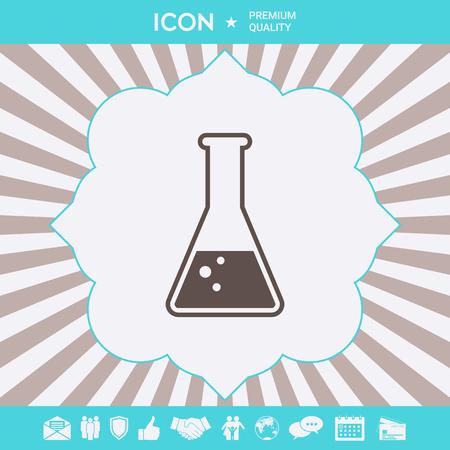 Test-tube symbol Bubbles . Signs and symbols for your designt Ilustração