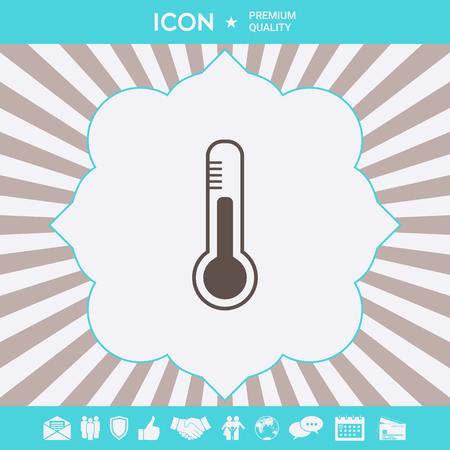 Thermometer symbol icon. . Signs and symbols for your designt Ilustração