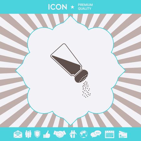 Salt or pepper shaker . Signs and symbols for your designt