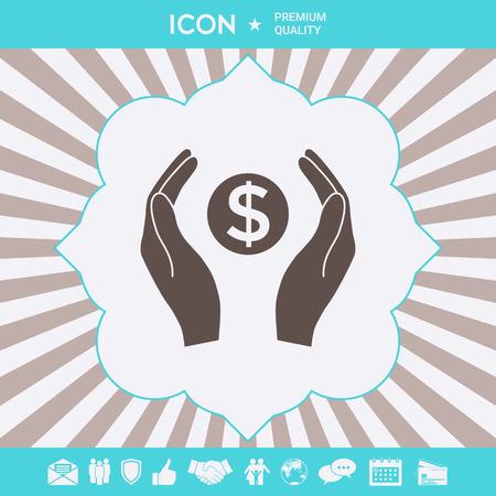 Hands holding money - dollar symbol