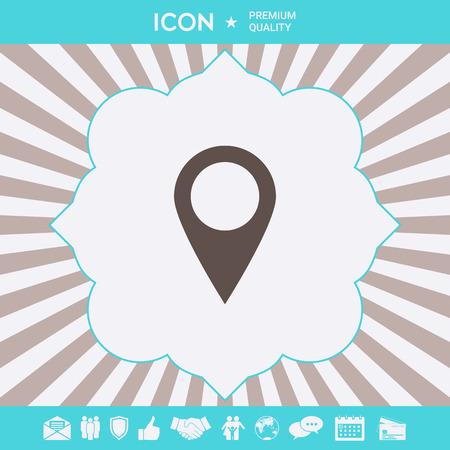 Map pointer icon . Signs and symbols for your designt Ilustração