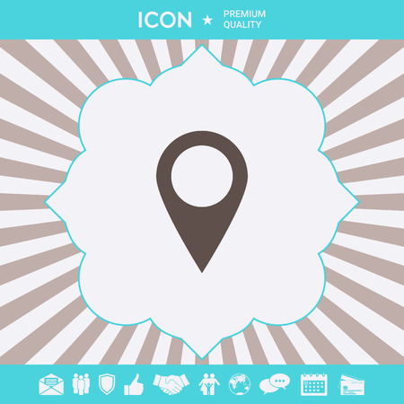 Map pointer icon . Signs and symbols for your designt Illustration
