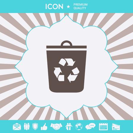 Trash can, recycle bin icon