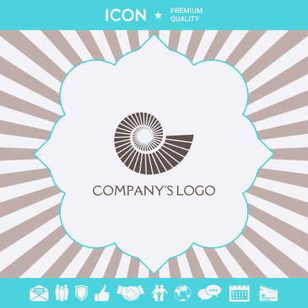Logo spiral, shell - a symbol of development, enlightenment and wisdom. Illustration