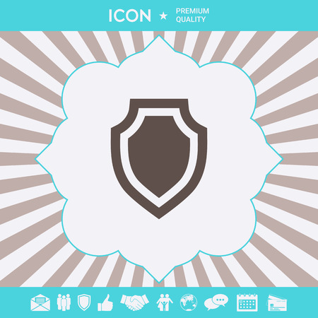 Shield - protection icon . Signs and symbols for your designt