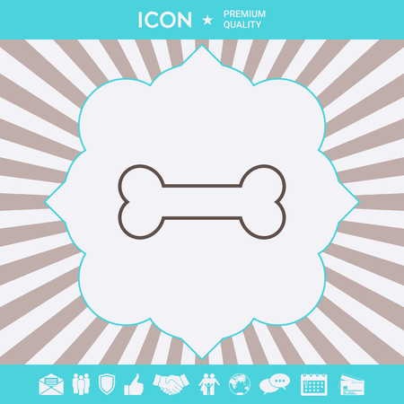 Bone line icon. Element for your design
