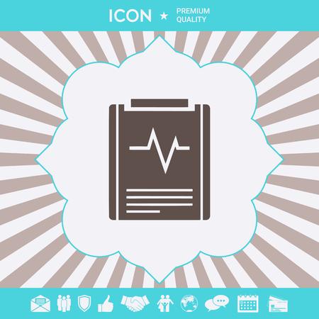 Electrocardiogram symbol icon. Element for your design Ilustração
