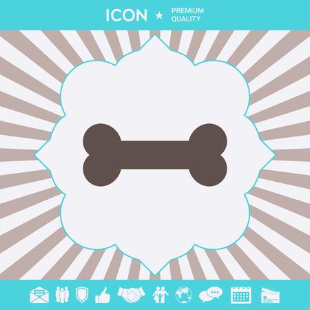 Bone symbol icon. Element for your design