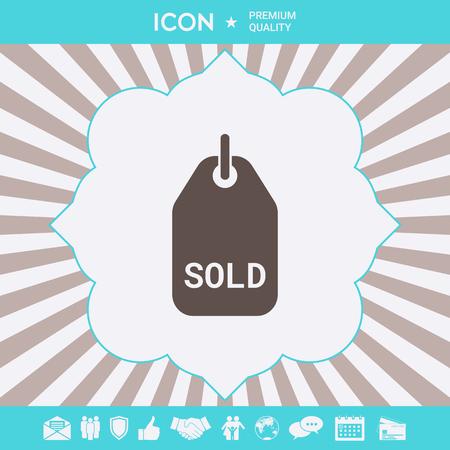 Sold symbol tag . Signs and symbols for your designt Ilustração