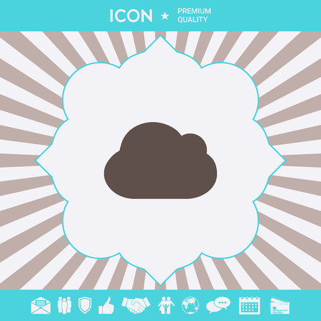 Cloud symbol icon. Element for your design