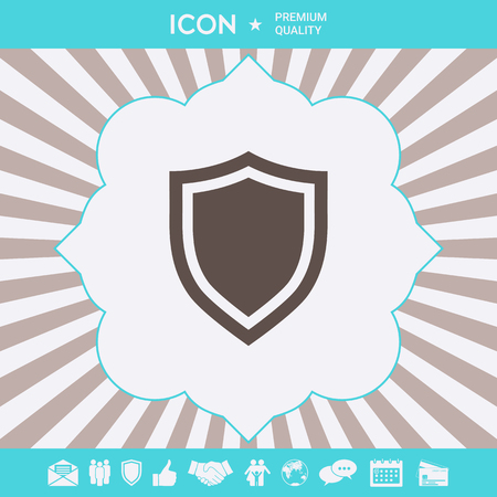 Shield. Protection icon . Signs and symbols for your designt