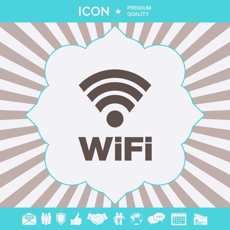 Internet connection symbol icon . Signs and symbols for your designt Ilustração