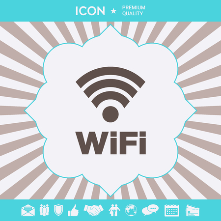 Internet connection symbol icon . Signs and symbols for your designt Illustration