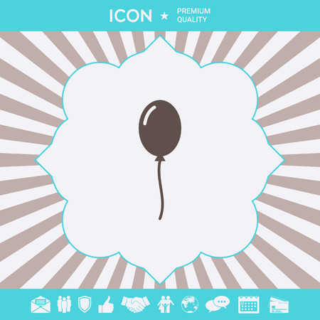 Balloon symbol icon. Element for your design Ilustração