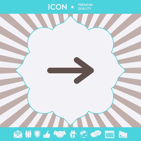Arrow icon symbol. Element for your design Ilustração