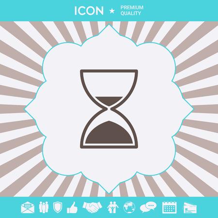 Hourglass time icon . Signs and symbols for your designt Ilustração